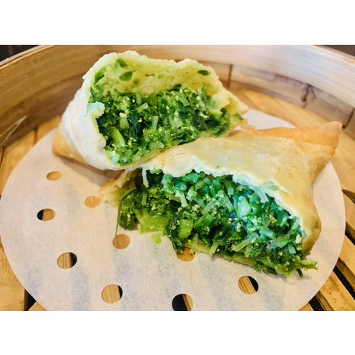 Pan Fried Chive Pockets (4 pcs, Frozen) 冷凍 純手工韭菜盒子