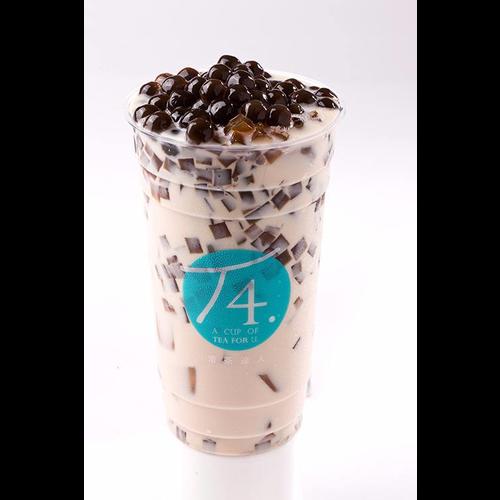 Coffee Milk Tea w/ Pearl + Coffee Jelly