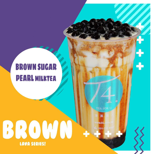 Brown Sugar Iced Milk w/ Pearl
