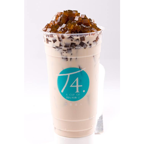 T7. Caramel Milk Tea w/ Coffee Jelly