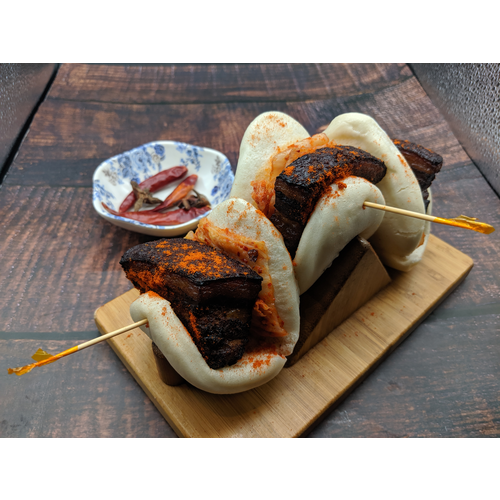 Kimchi Pork Belly Gua Bao 泡菜豬肉刈包